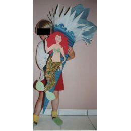 Schultüte Bastelset Schuppenmeerjungfrau in Handarbeit für Sie hergestellt ODER ALS FERTIGE SCHULTÜTE