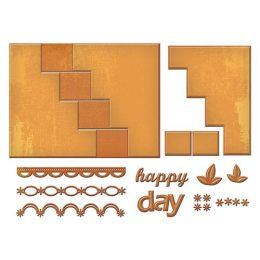 Spellbinder Card Creator Pop Up, Happy Days  13 Stk., S7-201