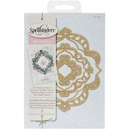 Spellbinders 3 Stanzformen S4-527 Nestabilities Decorative Fancy Diamond Deco Elements