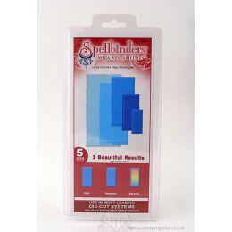 Spellbinders 5 Stanzformen Nestabilites Deckled Mega Rectangles Large S5-015