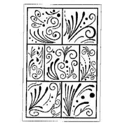 Stempel Filigran Mosaik  7 cm