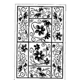 Stempel Mosaik Borde Blume 7 cm