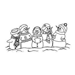 Stempel Schneemänner