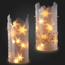 Sternentraum Lampenfolie, Spitz 2 teilig