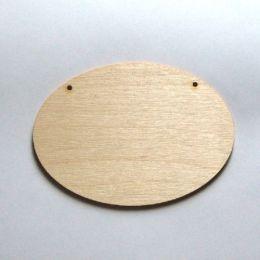 Türschild oval 250 mm, 5mm stark