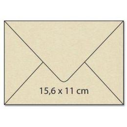 Umschlag C6 / Karte / Karton A4 Rechteck  centura creme