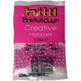 WACHSPERLEN 3mm,4mm oder 6mm pink matt