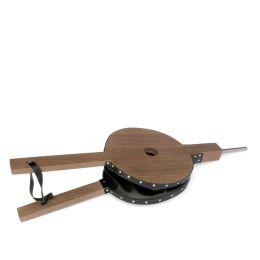 Blasebalg aus Holz mit Leder, handgefertigt