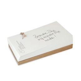 FlowerNail Merkzettel - schöner Notizblock mit einem BlumenNagel