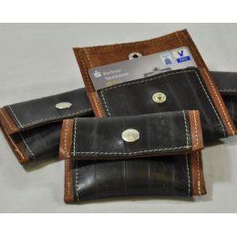 Geldinger - kleiner Geldbeutel aus Leder und Fahrradschlauch