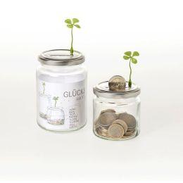 Glückssparen - Spardose mit Glücksmagnet