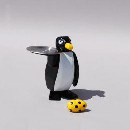 Holzfigur - Kellner Pingu, handbemalt
