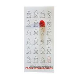 Kleiner Adventskalender mit Spielmagnet