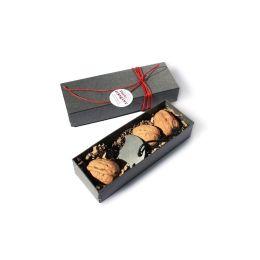 Nuss-Drängler  im Geschenkkarton mit 3 Walnüssen, Nussknacker aus Edelstahl