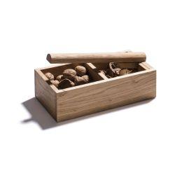 Nussknacker aus Holz, Eiche - zum Öffnen und Aufbewahren von Nüssen