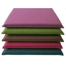 Quadratische Sitzkissen aus Filz, Maße 40 x 40 cm in 44 verschiedenen Farben