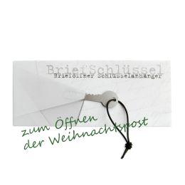 Weihnachtskarte mit Brieföffner - Briefschlüssel zum Öffnen der Weihnachtspost