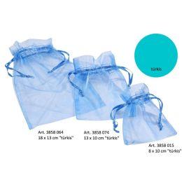 CREApop® Organza-Säckchen türkis 8 x 10 cm, Beutel a 12 Stück