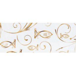 """Designkarton """"Charity"""" gold oder silber 200g / m²  DIN A4 - Motiv Fisch"""