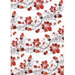 Floral painting vellum,