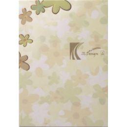 Floral: Pastellblumen mit Kupfer A4
