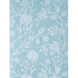 Glitter Bogen A4 Blume hellblau