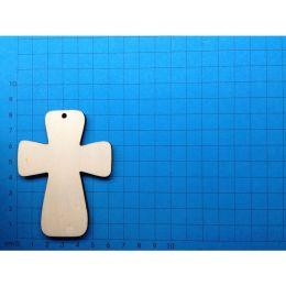 Kreuz breit, 80 mm hoch mit Loch; 5 mm