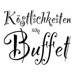 """Stempel \\""""Köstlichkeiten am Buffet\\"""""""
