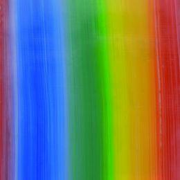 Verzierwachsplatte Regenbogenfarben 200 x 100 x 0,5mm
