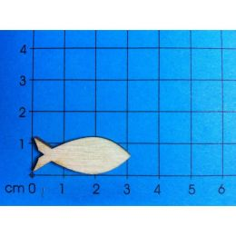 Fisch geschlossen aus Holz 22mm - 300mm