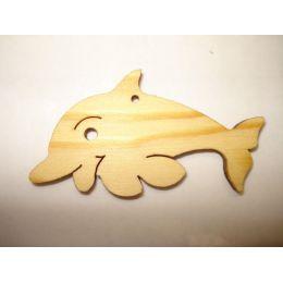Holz Kleinteile gelasert Delphin