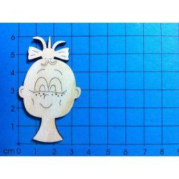 Holz Kleinteile Mädchenkopf 60mm oder 100 mm