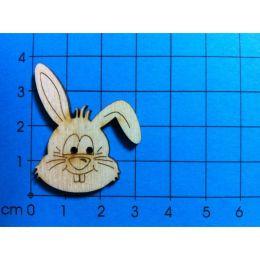 Knopf: Hasenkopf 40 mm