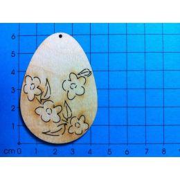 Osterei Blütenranke hoch 60 mm