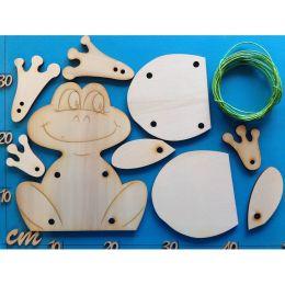 Schlenker-Frosch aus Holz 3 verschiedene Größen