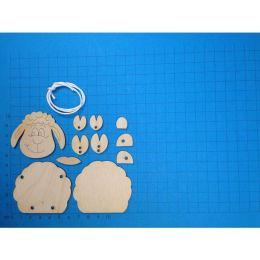 Schlenker-Schaf aus Holz in 3 Größen ab 10 cm