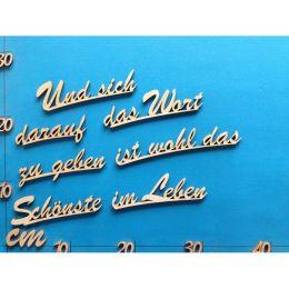 """Schriftzug Schreibschrift """"Und sich darauf..."""" ca. 160 mm und 190mm"""
