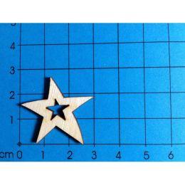 Stern mit Stern ohne Loch 30 mm
