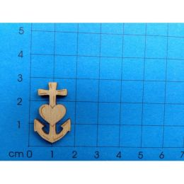 """Symbol """"Glaube-Liebe-Hoffnung"""" 25 mm"""