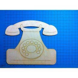 Telefon mit Wählscheibe 150 mm/Türschild mit 2 Löchern