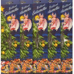 5x Staniol Brillant Eislametta Weihnachtsbaum 30 Fäden Silber Lametta verzinkt Schwer!!!