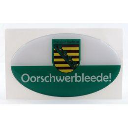 Aufkleber Ostprodukt Ossi Sachsen Spruch Oorschwerbleede echten Sachsen Autofahrer
