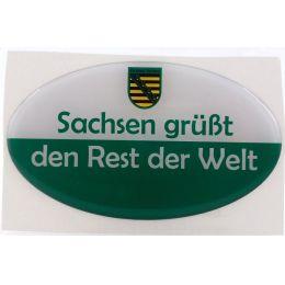 Aufkleber Sachsen Ostprodukt Ossi Spruch Sachsen grüßt den Rest der Welt jeden echten Fan Geschenkidee