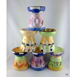 Duftstövchen Keramik  Duftlampe aus Keramik gearbeitet und mit farbigem Lack bemalt