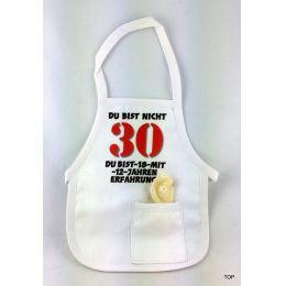 Flaschen Schürze Mini Schürze DU BIST NICHT 30 Eine originelle Art Flaschen zum 30. Geburtstag zu verschenken