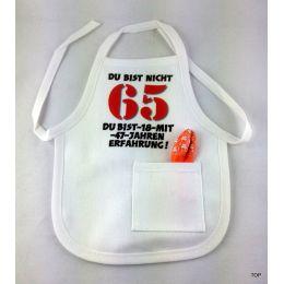 Flaschen Schürze Mini Schürze DU BIST NICHT 65 Eine originelle Art Flaschen zum 65. Geburtstag zu verschenken