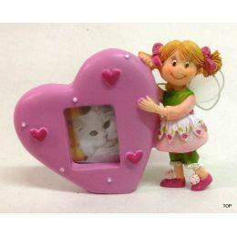 Fotorahmen Kleine Fee Kleine Mädchen lieben sie, die Kleine-Fee Fotorahmen in Herzform Farbe rosa