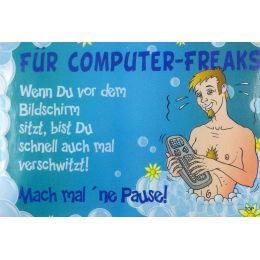 FÜR COMPUTER-FREAKS SEIFE Pflegeseife Geschenk Lustige Geschenkidee GAG Seife 100g