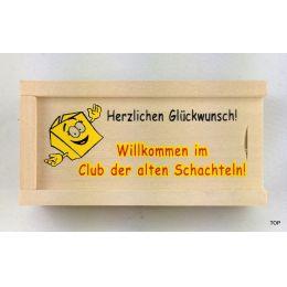 Geldkiste Club der alten Schachteln zum Geburtstag ab 50 Geschenkidee für Frauen