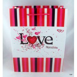 Geschenktüte mit romantischem Design für Ihre Liebste Maße:  23 x 18 x 10 cm